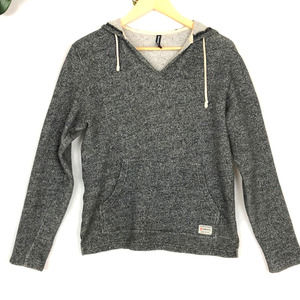 Knit V-neck Gray Soft Hoodie 3rd&Army , Size S